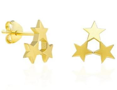 Gold Star Cluster Earring
