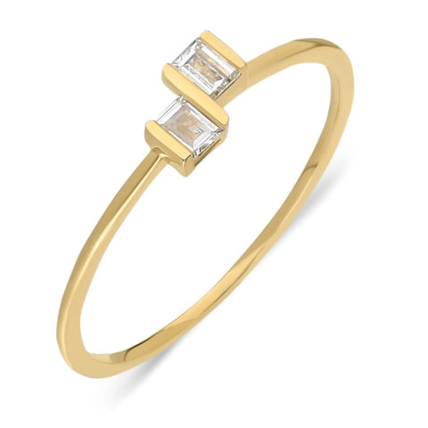 Baguette Stackable Diamond Ring