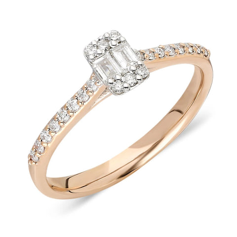 Diamond Baguette Round Diamond Ring