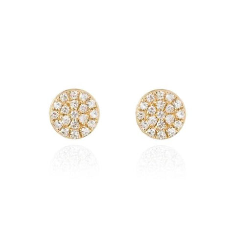 Small Diamond Disc Earrings