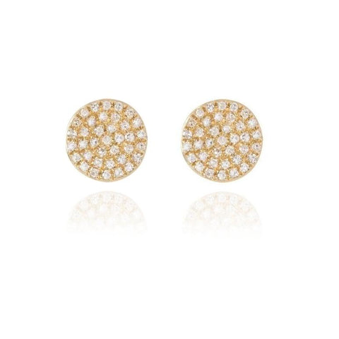 Diamond Disc Earrings