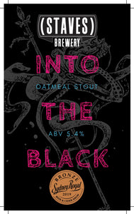 'INTO THE BLACK' Oatmeal Stout 375mL