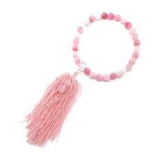 Pink Plastic Glass Juzu Prayer beads