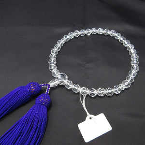 Cut Crystal Quartz Juzu Prayer beads 5 Colors - 京都あさひ屋-Kyoto Asahiya