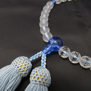 Frosted Crystal Opaque Quartz &  Gemstone Juzu Prayer beads for Women 5 Types - 京都あさひ屋-Kyoto Asahiya