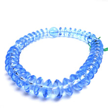 Load image into Gallery viewer, Blue Quartz Crystal Flat Breads Bracelet