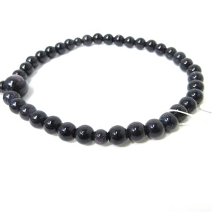 Blue Goldstone Glass Juzu Prayer beads - 京都あさひ屋-Kyoto Asahiya