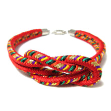 Load image into Gallery viewer, Kumihimo Bracelet Red