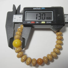 Load image into Gallery viewer, Bodhi Seed Wood Beads & Honey Amber Bracelet - 京都あさひ屋