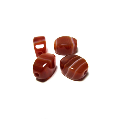 Red Agate Stone Beads 1pcs - 京都あさひ屋