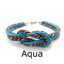 Load image into Gallery viewer, Kumihimo Bracelet Aqua