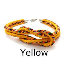 Load image into Gallery viewer, Kumihimo Bracelet Yellow