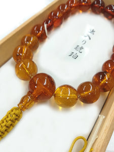 15mm Insect Amber Round beads Japanese Juzu - 京都あさひ屋