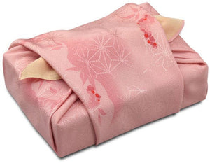 68cm Silk Furoshiki - Yuzen Double Sides Dyeing 2 patterns