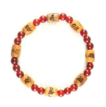 Load image into Gallery viewer, 6mm Indian Sandalwood & Red Agate Bracelet