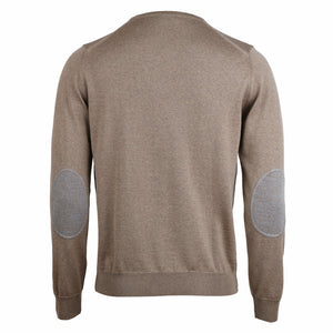 Crew neck w. patch, Merino woo
