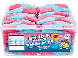 Sweetzone Giant Fizzy Blue Bottles Tub