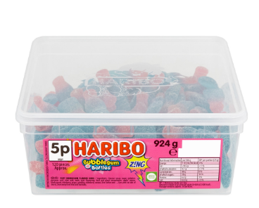 Haribo Bubblegum Bottles Tub