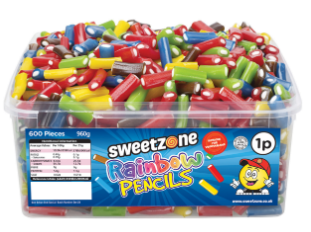 Sweetzone Rainbow Pencils Tub