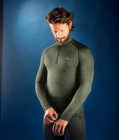 KONUSTEX - T-Shirt caccia outdoor KONUSTEX PROGAME-45 Lupetto 1/2 zip verde #219 - Caccia Outdoor Ciclismo Fitness, Intimo, Maglie - OnTheRoad.shop