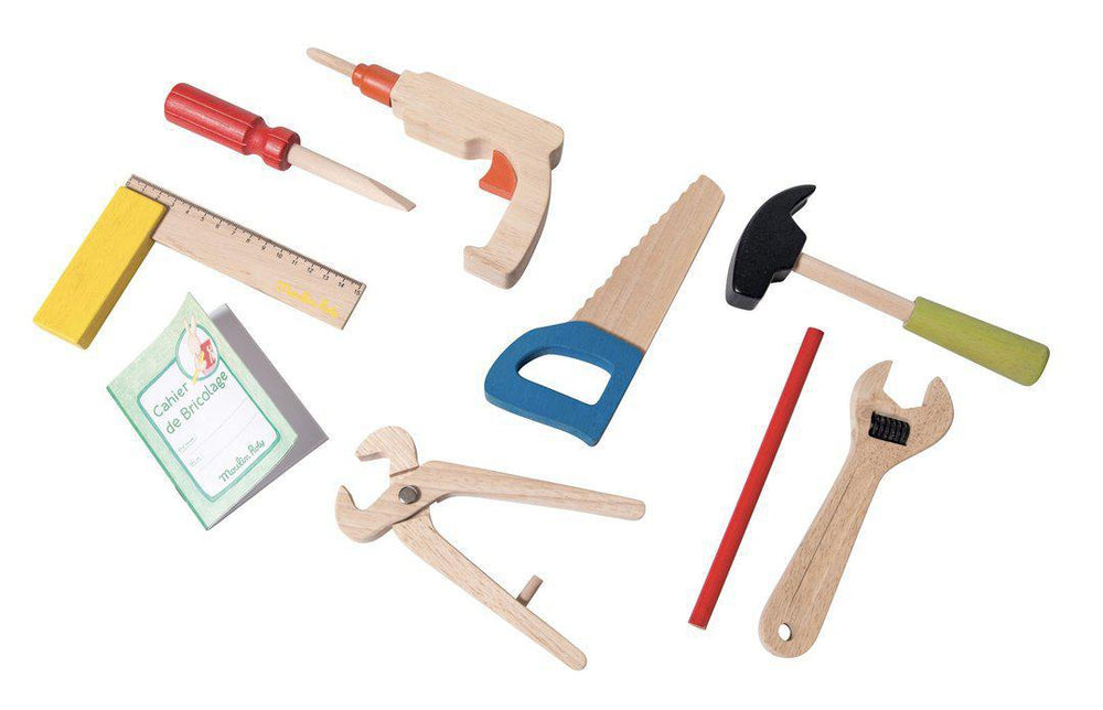 """I am Working"" Wooden Tool Set"