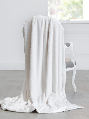 Load image into Gallery viewer, Cream Luxe Throw