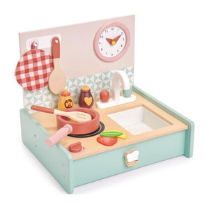 Mini Chef Kitchenette Wooden Toy Set