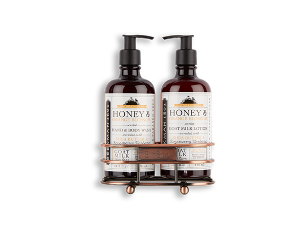 Load image into Gallery viewer, Beekman Honey & Orange Blossom Hand Care Duo Caddy Set