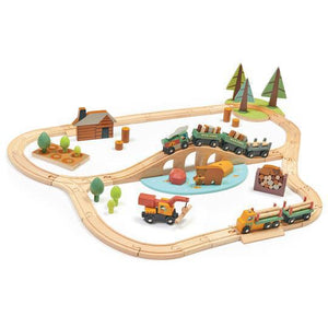 Wild Pines Train Wooden Toy Set