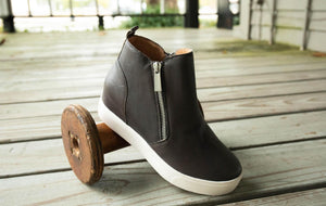 SKY Leather Bootie