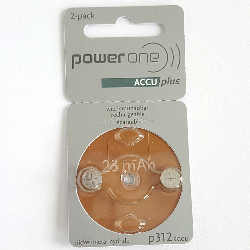 Powerone Accu Plus Size 312 Rechargeable Hearing Aid