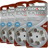 Rayovac Extra Advanced Hearing Aid Batteries Size 312