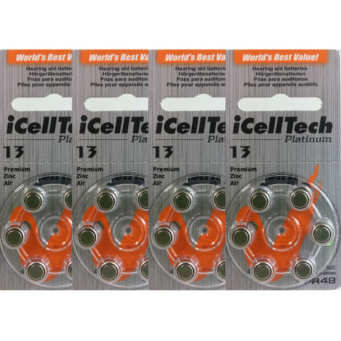 iCellTech Platinum Hearing Aid Batteries Size 13