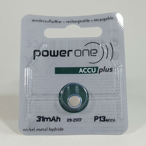Powerone ACCU Plus Size 13 Rechargeable Battery
