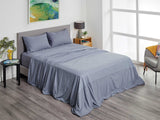 Fusion Fitted Sheet Set (Fitted Sheet, Flat Sheet, 1x Pillow Case) - Charcoal