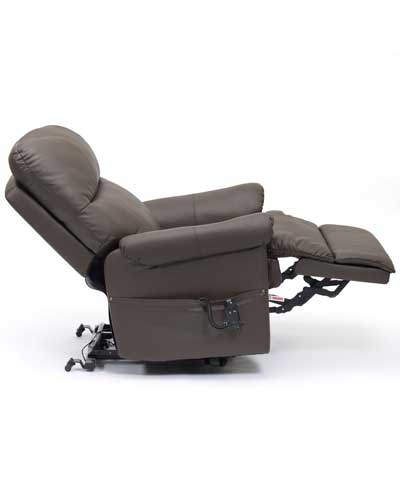 Borg Single Motor Rise Recliner - Brown