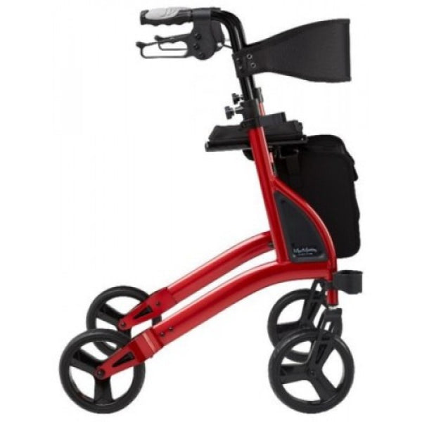 "Alpha 438 Lightweight X-Frame Rollator - 24"" Seat Height"