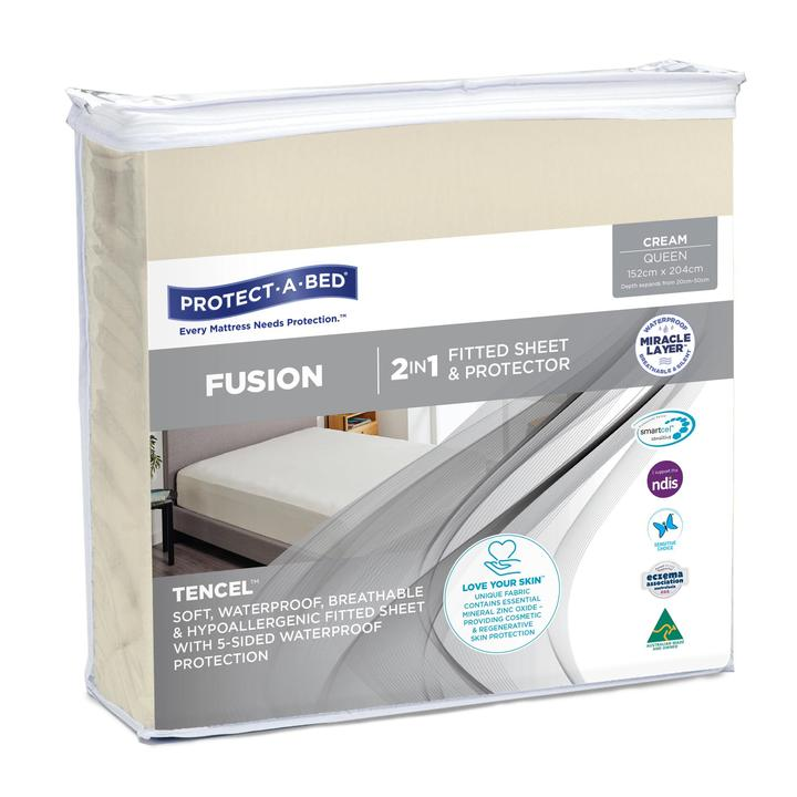Fusion Waterproof Fitted Sheet