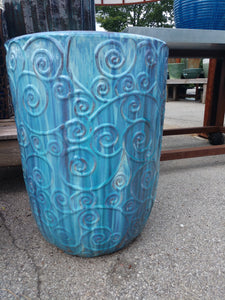 Milky Blue Outdoor Planter