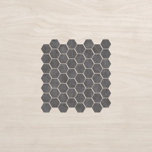 297x309mm Urban Cement Grey Hexagon Mosaic