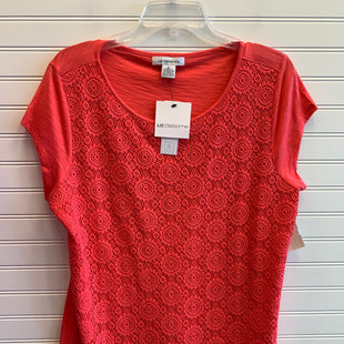 Primary Photo - BRAND: LIZ CLAIBORNE STYLE: TOP SHORT SLEEVE COLOR: CORAL SIZE: L SKU: 117-117120-24880