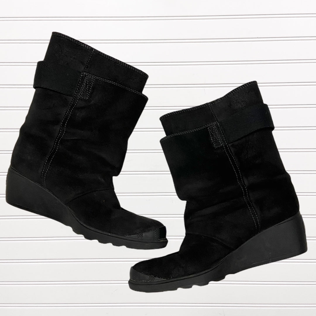 Photo #2 - BRAND: SOREL <BR>STYLE: BOOTS ANKLE <BR>COLOR: BLACK <BR>SIZE: 8 <BR>OTHER INFO: TORONTO WEDGE SNOW BOOT RETAIL $180 <BR>SKU: 117-117120-20827