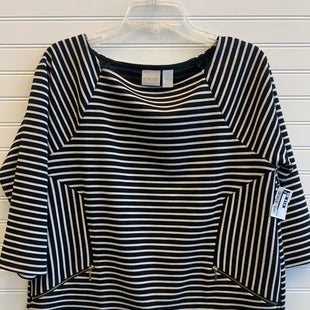 Primary Photo - BRAND: CHICOS STYLE: TOP LONG SLEEVE COLOR: BLACK WHITE SIZE: L SKU: 117-117120-22619R