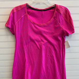 Primary Photo - BRAND: LULULEMON STYLE: ATHLETIC TOP SHORT SLEEVE COLOR: HOT PINK SIZE: 6 SKU: 117-117120-24781