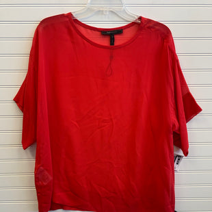 Primary Photo - BRAND: BCBGMAXAZRIA STYLE: TOP SHORT SLEEVE COLOR: RED SIZE: L OTHER INFO: SHEER SKU: 117-117120-18090