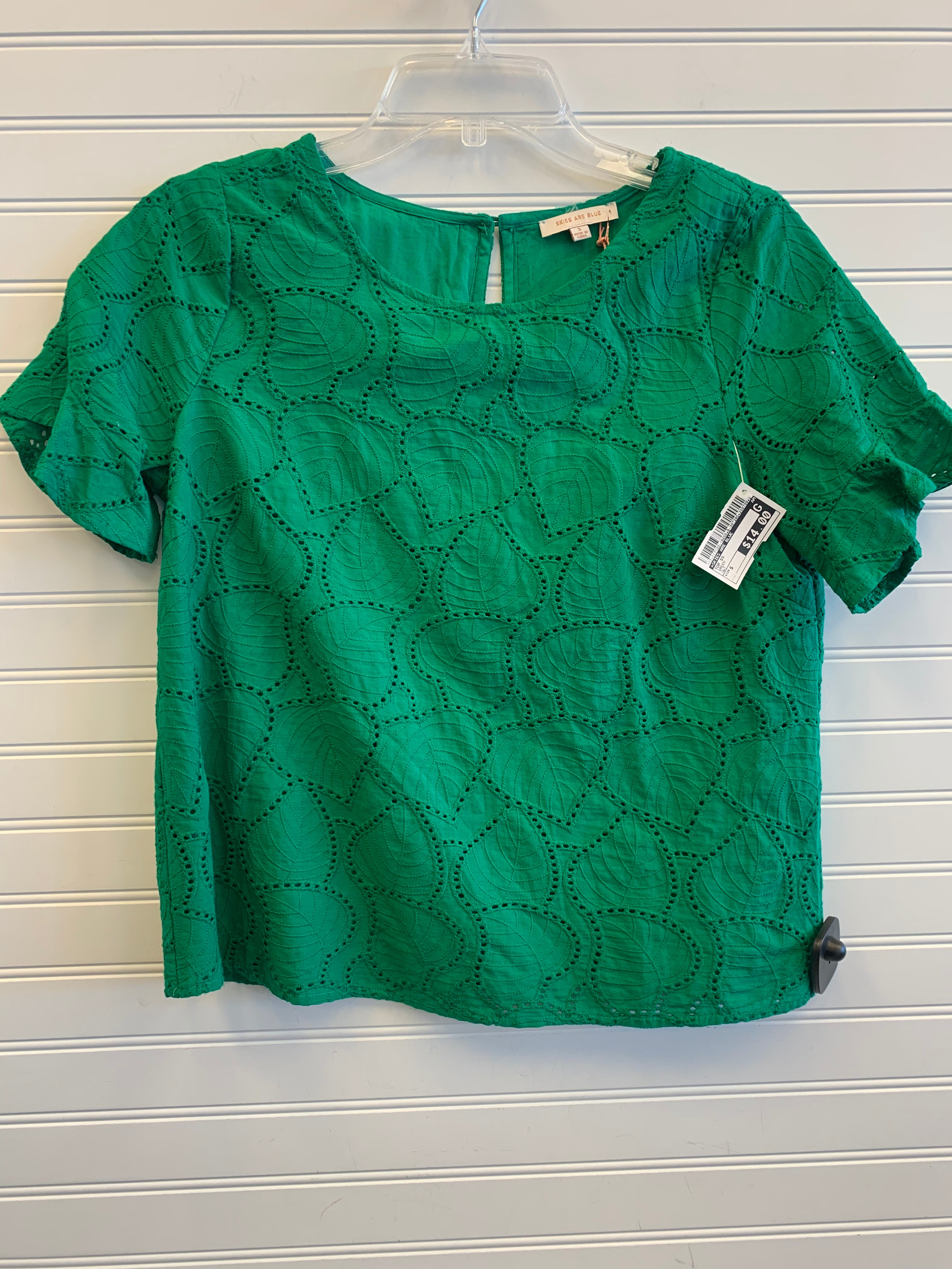 Primary Photo - BRAND: SKIES ARE BLUE <BR>STYLE: TOP SHORT SLEEVE <BR>COLOR: GREEN <BR>SIZE: S <BR>OTHER INFO: NWT <BR>SKU: 117-117120-18455
