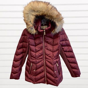 Primary Photo - BRAND: MICHAEL BY MICHAEL KORS STYLE: COAT LONG COLOR: BURGUNDY SIZE: M SKU: 117-117135-65R