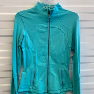 Primary Photo - BRAND: LULULEMON STYLE: ATHLETIC JACKET COLOR: AQUA SIZE: 6 OTHER INFO: AS IS/ PILLING SKU: 117-11711-182164