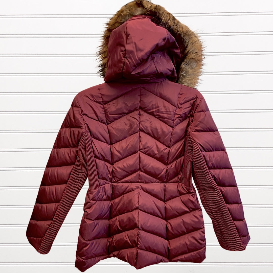 Photo #2 - BRAND: MICHAEL BY MICHAEL KORS <BR>STYLE: COAT LONG <BR>COLOR: BURGUNDY <BR>SIZE: M <BR>SKU: 117-117135-65R