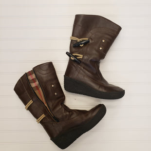 Primary Photo - BRAND: BURBERRY STYLE: BOOTS KNEE COLOR: BROWN SIZE: 8 SKU: 117-11711-178273EURO 38